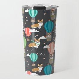 Corgis in Hot Air Balloons - cute dog design Travel Mug