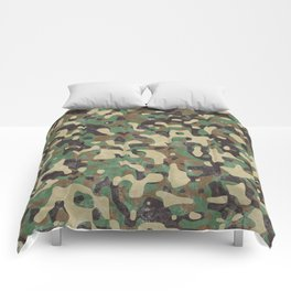 Distressed Army Camo Comforters