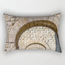 Stone arch of French bridge in Rhone-Alpes Rectangular Pillow