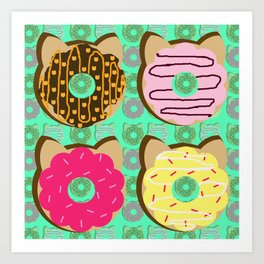 Dough Cats Art Print