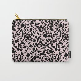 Terrazzo Spots Black on Blush Repeat Carry-All Pouch