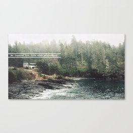 He layered his life with profundity Canvas Print