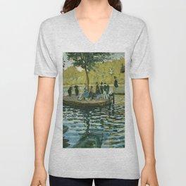 Claude Monet - La Grenouillère Unisex V-Neck