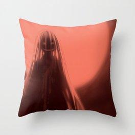 Red Moon (#Drawlloween2016 Series) Throw Pillow