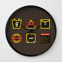 lord of the ring Wall Clocks featuring Take Care Ring-bearer by Barn Bocock