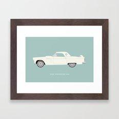 Ford Thunderbird 1956 Framed Art Print