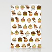 cupcakes Stationery Cards featuring Cupcakes by Jeanne Bornet
