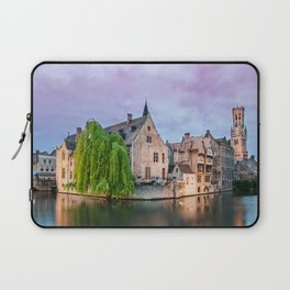 Bruges sunset Laptop Sleeve