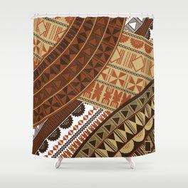 UrbanNesian Fijian Masi Shower Curtain