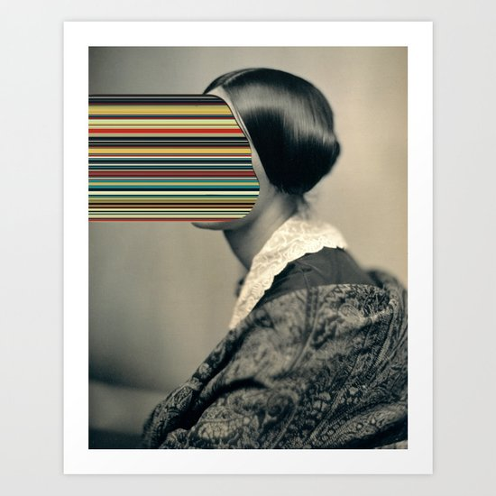 Unidentified Woman / Hypercolours (2013) Art Print