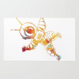 Orange Astronaut Cosmonaut Spaceman Funny Galaxy Space Rug