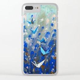 Origami Cranes Clear iPhone Case