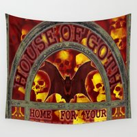 goth Wall Tapestries featuring HOUSE OF GOTH - 116 by Lazy Bones Studios