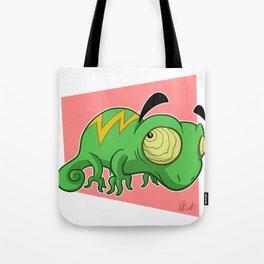 Eyebrow Lizard Tote Bag