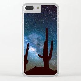 Milky Way Cacti Clear iPhone Case
