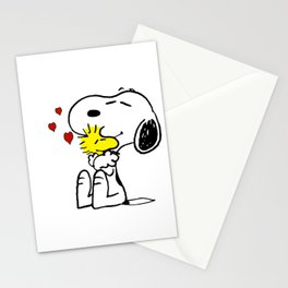 snoopy love woodstock Stationery Cards