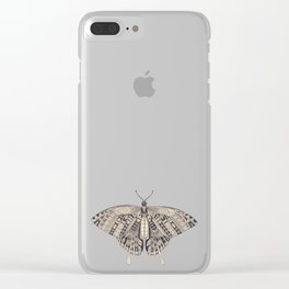 swallowtail butterfly citron basalt Clear iPhone Case