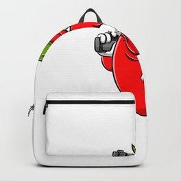 Chili Cartoon Holding Gun Backpack