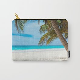 Turquoise Tropical Beach Carry-All Pouch