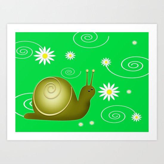 Little Snail Art Print