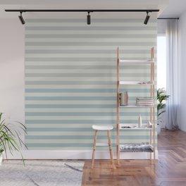 Minimal Half Stripes Blue & Gray Wall Mural