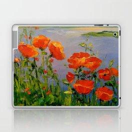 Poppies near the river Laptop & iPad Skin