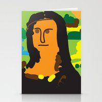 mona lisa Stationery Cards featuring Mona Lisa by John Sailor