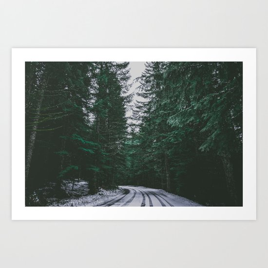 Winter Drive II Art Print
