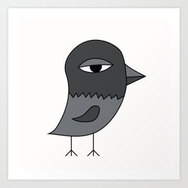 Big Eye Pigeon Art Print