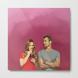 Santa Clarita Diet (Joel and Sheila) Metal Print