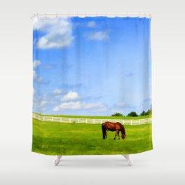 Summer Grazing Shower Curtain