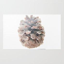 Pinecone Watercolor Art Rug