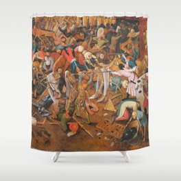The triumph of Death Shower Curtain