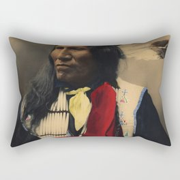 Strikes With Nose, Oglala Sioux Chief 1899 Rectangular Pillow