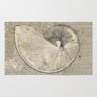 seashell Area & Throw Rugs featuring SEASHELL by Mary Szulc