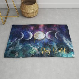 Celestial Ocean Moon Phases | Stay Wild Rug