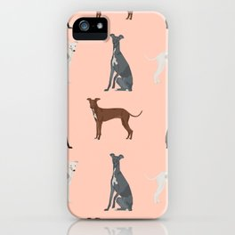 Italian Greyhound dog breed pet portrait unique pure breed gifts iPhone Case