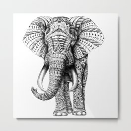 ELEPHANT--MANDALA Metal Print