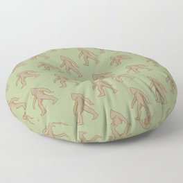 Brown/Green Bigfoot Floor Pillow
