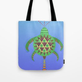 La tortuga boba (Caretta caretta) Tote Bag