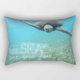 Free Turtle  Rectangular Pillow