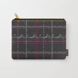 Feminist Killjoy Tartan Text Print Carry-All Pouch