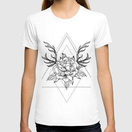 rose design T-shirt