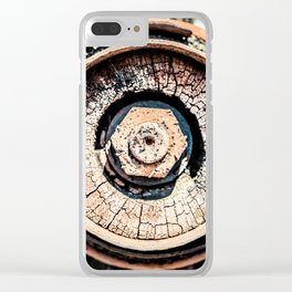 The Rusted Wheel Clear iPhone Case