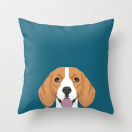 Lenon - Beagle gifts for pet owners and dog person with a beagle Throw Pillow