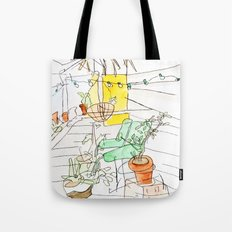 my back porch Tote Bag