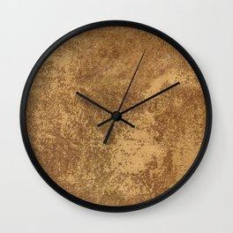 Abstract gold paper Wall Clock