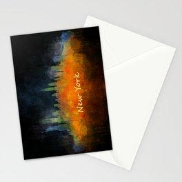 New York City Skyline Hq V04 Stationery Cards