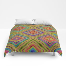hang on to rhomb self Comforters