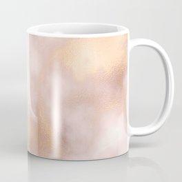 Blush pink faux gold vintage elegant marble Coffee Mug